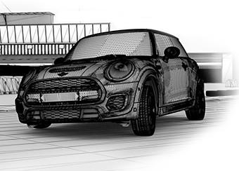 MINI John Cooper Works Effekt-Etage CGI 3D
